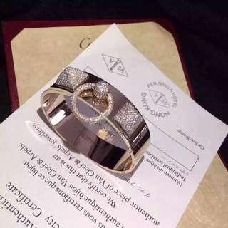 Hermes 愛瑪仕 闊版CDC 鑽石手鐲