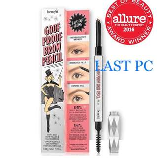 LAST PC ‼️BENEFIT GOOF PROOF BROW PENCIL SAMPLE SIZE .03g Shade 2 ***HIGHLY RECOMMENDED BY COSMOPOLITAN KOREA!!! 豐盈眉筆 簡單易用,填補空隙,締造立體濃眉