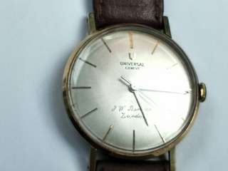 Vintage Universal Genele 18K Solid Gold Winding Watch (33mm)