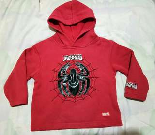 Reprice!Hooded Spiderman Sweatshirt for 2yrs old