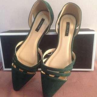 Zalora Cut Point Shoes (Green)