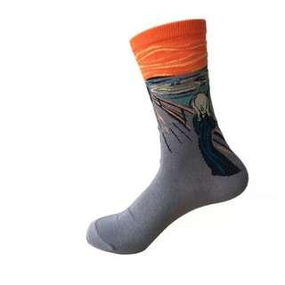 Famous Paintings Socks Design