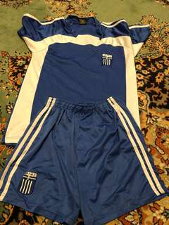 Greece soccer football set shirt shorts