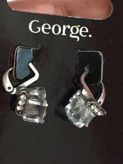方型石耳環
