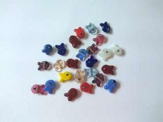 Acrylic fish beads
