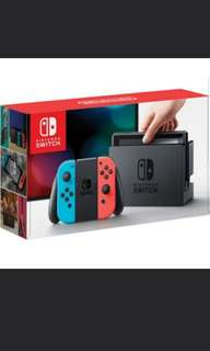 Nintendo Switch Neon Blue / Red Console and grey