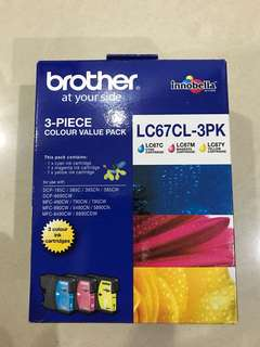 Brother LC67 3 colour pack