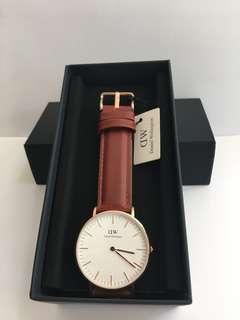 DW啡色皮錶款36mm/40mm