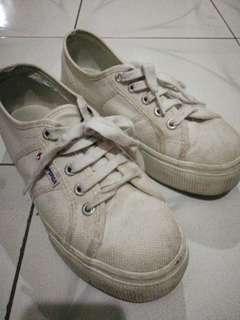 Superga 2790 white platform sneakers
