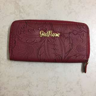 Giofiore red wallet purse