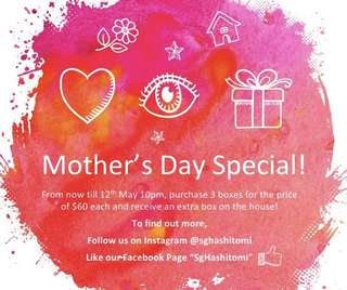 HAShitomi Mother's Day promotion!!!