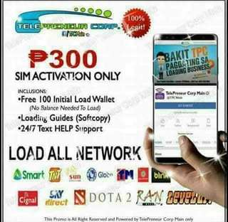 ‼️SALE ‼️Retailer: 1 sim loads all networks and more.