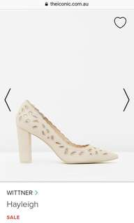 Witner real leather nude heels