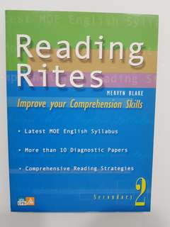 Reading Rites for Sec 2 by Mwrvyn Blake