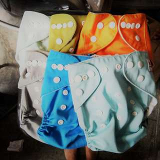 FINAL PRICE Set of SIX Cloth Diapers