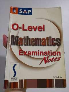 'O' Level Mathematics Examination Notes
