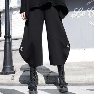 iron ring pants loose size elastic pant