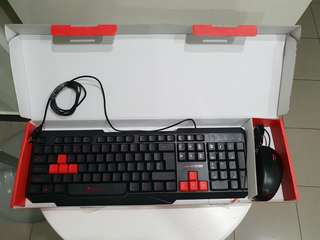 Alcatroz Wired Keyboard and Mouse