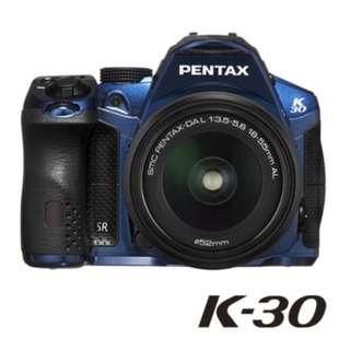 福利品 PENTAX K-30藍+DAL 18-55 WR P1