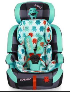 Cosatto car seat 123 zoomie monster design