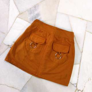 College brown skirt