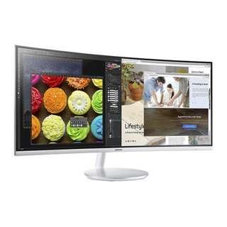 """Samsung C34F791 34"""" QLED Monitor CF791 C34F791W"""