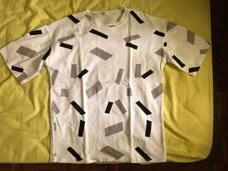 White T-shirt with rectangle boxes