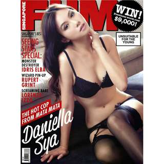 Singapore FHM - November 2013 issue - Actress Daniella Sya