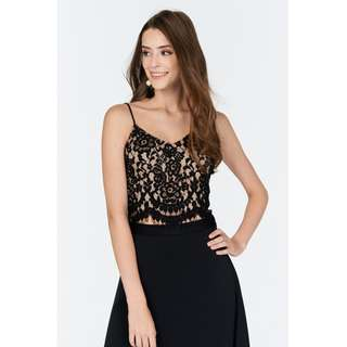 BN TCL Janine Two Tone Lace Bralet in Black