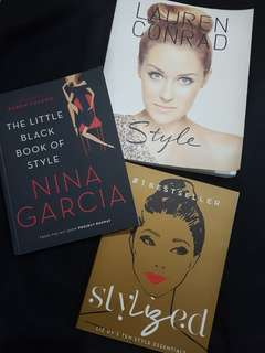 Assorted books on fashion & style! Take all for Php 750!!!