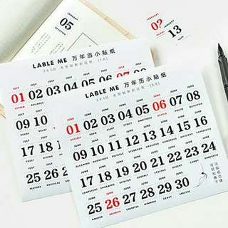 Calender stickers
