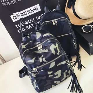 Ladies Black OR Camo Casual Backpack Bag