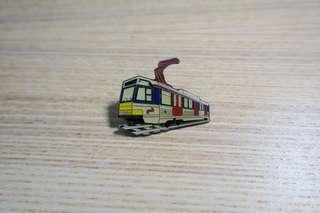 90年代地鐵火車輕鐵徽章pin