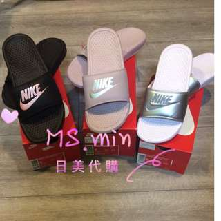 現貨 美國代購 Nike 玫瑰金 櫻花粉 乾燥粉 香檳紫 拖鞋 玫瑰金拖鞋 US8