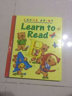 Learn To Read Hard Cover Book For Young Children (5 yrs +)
