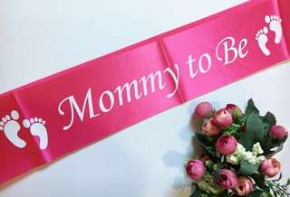 Mommy To Be Sash (Pink)