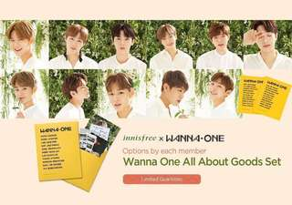 Wanna One x Innisfree goods set instock - Park Woojin