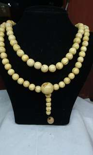 White Bahar Wood Necklace/Tasbih