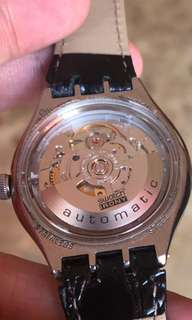 Almost brand new Swatch irony Automatic see through.