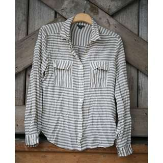 Elwood Raw Silk Striped Shirt
