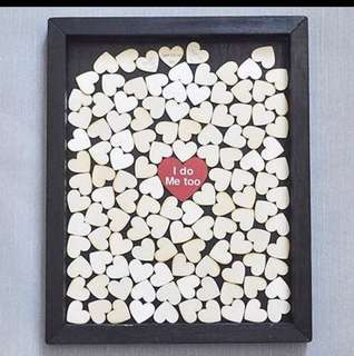 Heart Shape Wood slices Guestbook