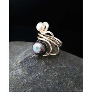 HANDMADE! Genuine Pearl Ring 50020
