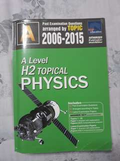 A Level H2 physics TYS topical 2006-2015