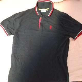 歐洲名牌 WESC 黑色 90% new  polo shirt  Size L