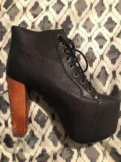 Jeffrey campbell Lita platform high heel boots
