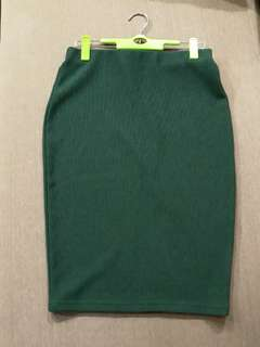 Preloved Emerald Green Skirt