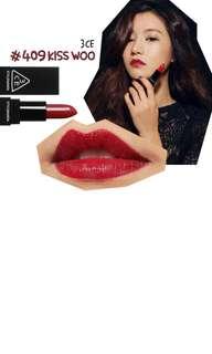 BNIB 3CE KISS WOO lipstick