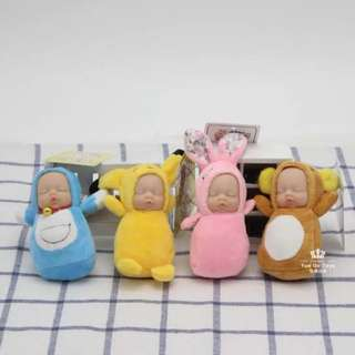 🚚 啦啦熊寶寶睡覺吊飾