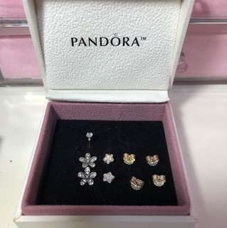 🚚 Pandora 耳環組 花朵 星星