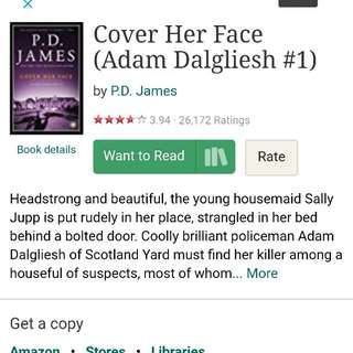 Cover her face P D james detective crime Thriller novel